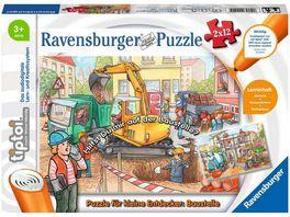 Ravensburger tiptoi Puzzle fuer kleine Entdecker Baustelle