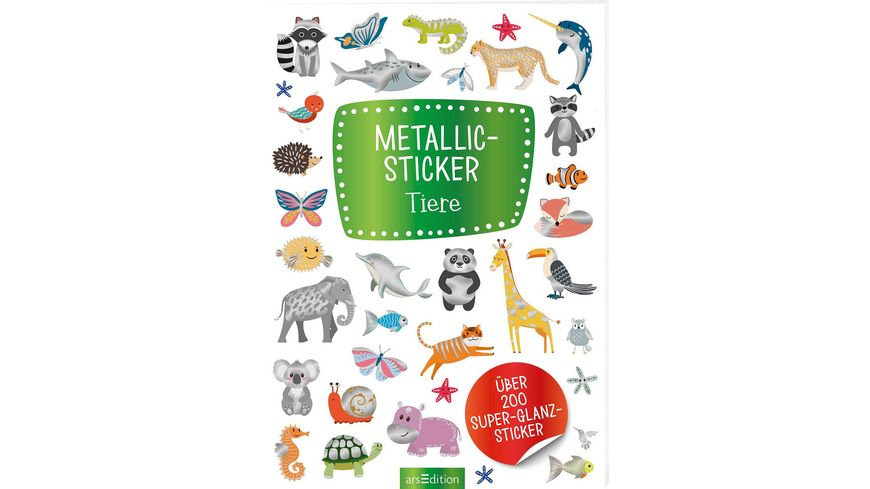 Metallic Sticker Tiere Ueber 200 Super Glanz Sticker