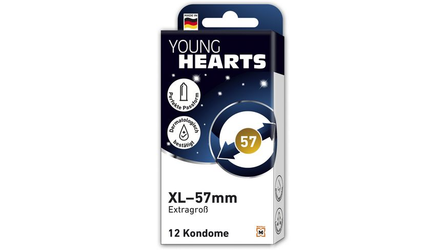 YOUNG HEARTS Kondome XL – 57mm