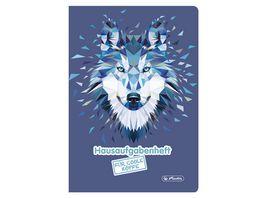 herlitz Aufgabenheft A5 48 Blatt fuer coole Koepfe Motiv Wolf