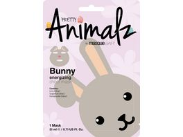 masqueBAR Pretty ANIMALZ Bunny Energetisierende Tuchmaske