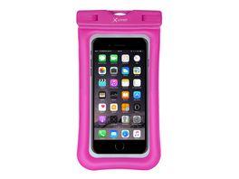 Xlayer wasserdichte Schutzhuelle fuer Smartphones bis 6 5 Pink