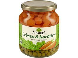 Alnatura Erbsen und Karotten