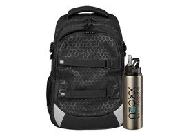 NEOXX Rucksack Set ACTIVE 2teilig Lost in black