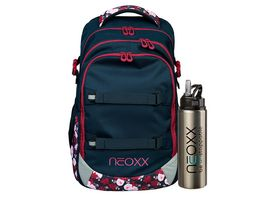 NEOXX Rucksack Set ACTIVE 2teilig My heart blooms Edelstahl Thermoflasche 750ml