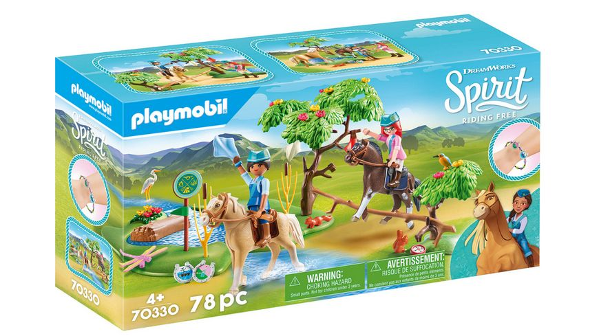 PLAYMOBIL 70330 Spirit Riding Free Herausforderung am Fluss
