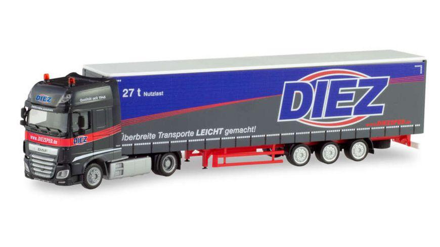 Herpa 311274 DAF XF SSC Lowliner Sattelzug Spedition Diez