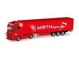 Herpa 311519 Scania CS 20 HD Schubboden Sattelzug Wirth Agrar