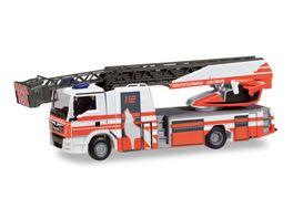 Herpa 095129 MAN TGS M Drehleiter Feuerwehr Wolfsburg
