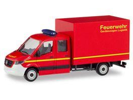 Herpa 094009 Mercedes Benz Sprinter 18 neue Doppelkabine mit Koffer Feuerwehr
