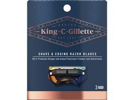 King C Gillette Systemklingen 3er