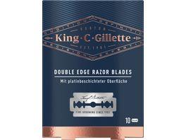 King C Gillette Systemklingen fuer Rasierhobel 10er