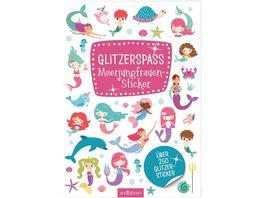 Glitzerspass Meerjungfrauen Sticker Ueber 250 Glitzersticker