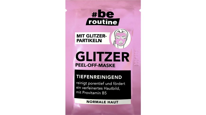be routine Glitzer Peel Off Maske