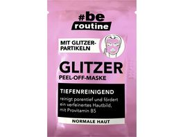 be routine Glitzer Peel Off Maske