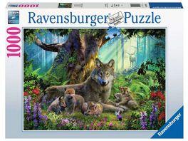 Ravensburger Puzzle Woelfe im Wald 1000 Teile