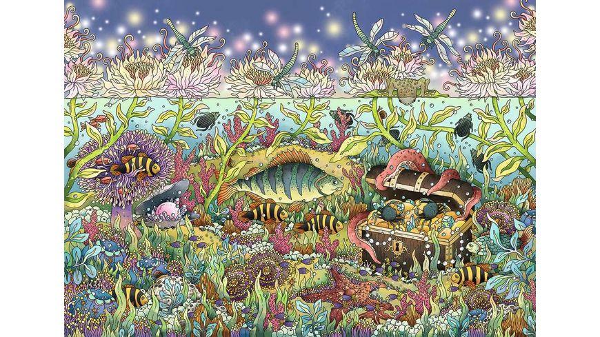 Ravensburger Puzzle Daemmerung im Unterwasserreich 1000 Teile