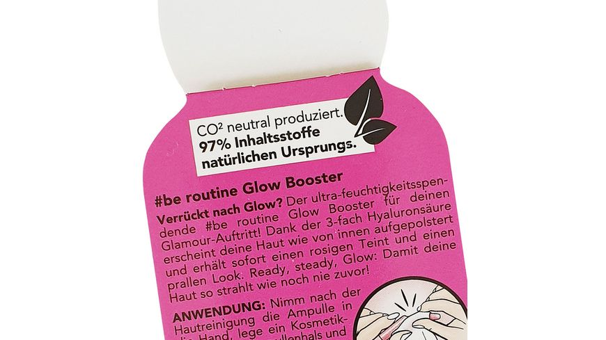 be routine Glow Booster Ampulle