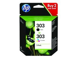 HP Druckerpatrone 303 2er Pack schwarz 3farbig