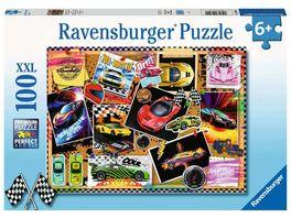Ravensburger Puzzle Rennwagen Pinnwand 100 XXL Teile