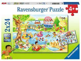 Ravensburger Puzzle Freizeit am See 2 x 24 Teile