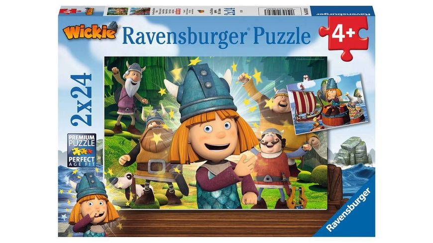 Ravensburger Puzzle Wickie Unser kluges Koepfchen Wickie 2 x 24 Teile