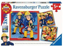 Ravensburger Puzzle Feuerwehrmann Sam Unser Held Sam 3 x 49 Teile