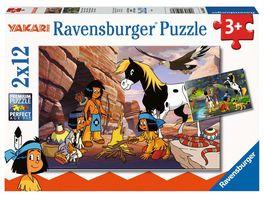 Ravensburger Puzzle Yakari Unterwegs mit Yakari 2 x 12 Teile