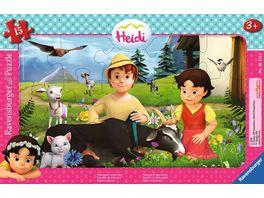 Ravensburger Puzzle Heidi Gemeinsam auf der Alm 15 Teile