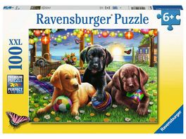 Ravensburger Puzzle Hunde Picknick 100 XXL Teile