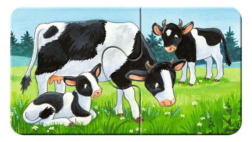 Ravensburger Puzzle Tierfamilien auf dem Bauernhof 9 x 2 Teile