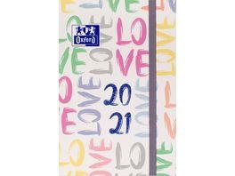 Oxford Schuelerkalender 2020 2021 Lettering 12x18cm