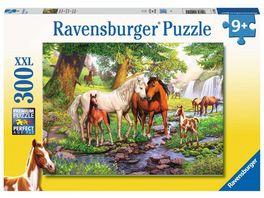 Ravensburger Puzzle Wildpferde am Fluss 300 XXL Teile