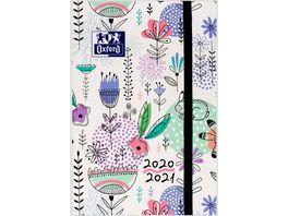 Oxford Schuelerkalender 2020 2021 Flowers 12x18 cm