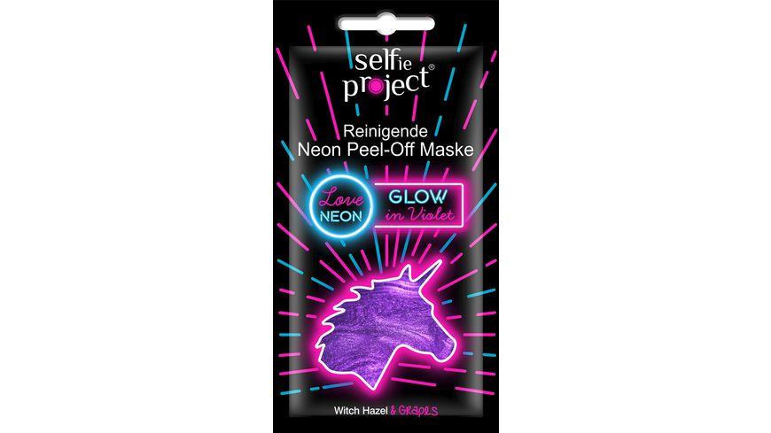 Selfie Project #Glow in Violet Peel-Off Maske, Unicorn