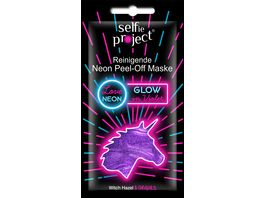 Selfie Project Glow in Violet Peel Off Maske Unicorn