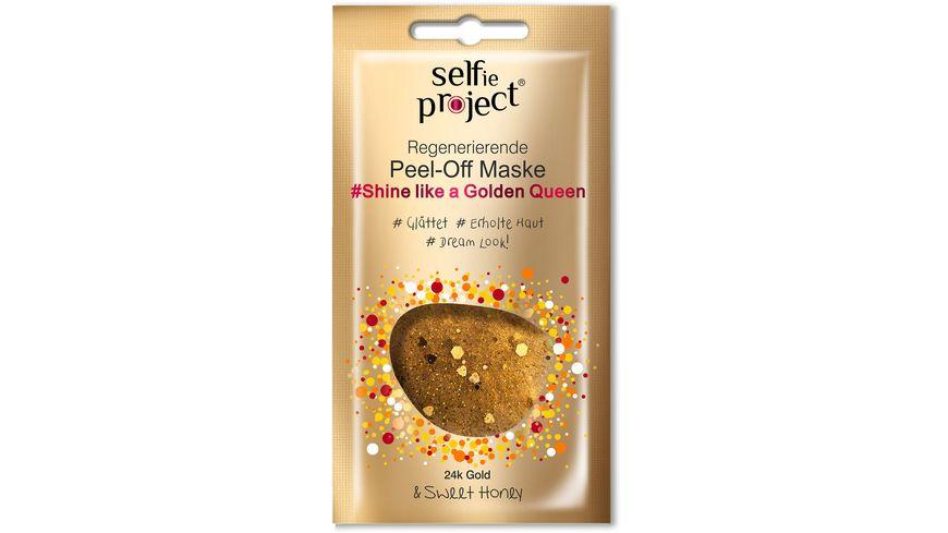Selfie Project Shine Like a Golden Queen Peel Off Maske