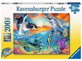 Ravensburger Puzzle Ozeanbewohner 200 XXL Teile