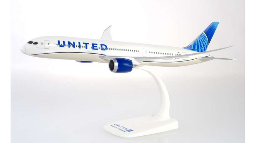 Herpa 612548 Snap Fit 1 200 United Airlines Boeing 787 9 Dreamliner new colors
