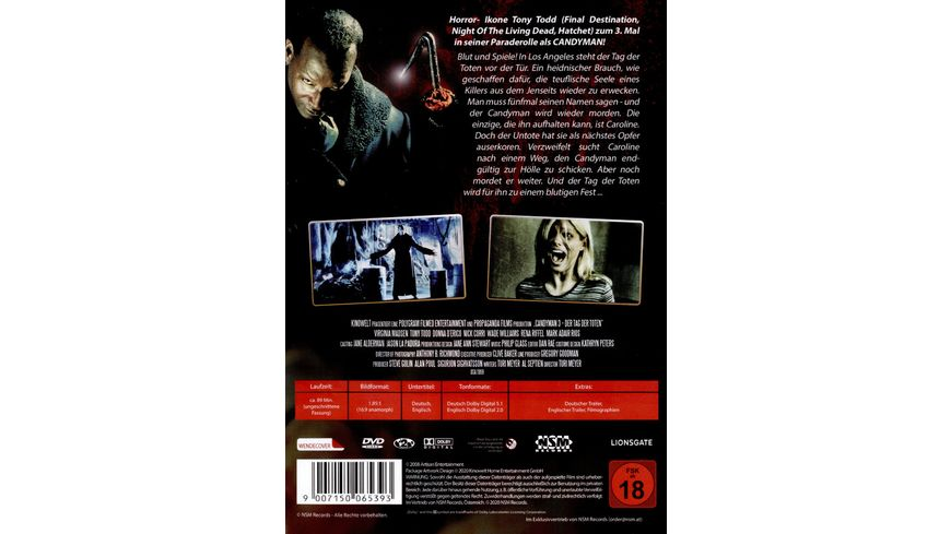 Candyman 3 Day of the Dead uncut