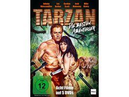 Tarzan Die besten Abenteuer Acht spannende Abenteuer mit den beliebtesten Tarzan Darstellern Pidax Film Klassiker 5 DVDs