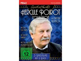 Agatha Christie Hercule Poirot Collection Mord a la Carte Mord mit verteilten Rollen Toedliche Parties Pidax Film Klassiker 2 DVDs