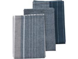 kela Geschirrtuecher Pasado jeansblau 65 x 45 cm