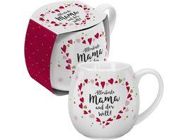 GRUSS CO Bauchige Tasse Allerbeste Mama auf der Welt