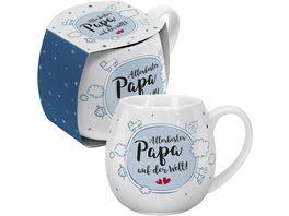 GRUSS CO Bauchige Tasse Allerbester Papa auf der Welt