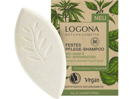 LOGONA Festes Pflege Shampoo Bio Hanf Bio Brennnessel