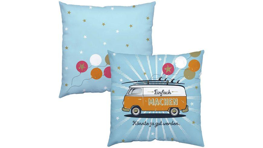 H:)PPYlife Baumwollkissen »Bus«