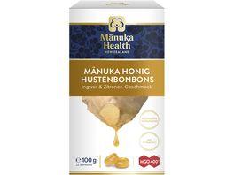 Manuka Hustenbonbons 400 Ingwer Zitrone