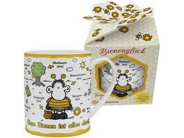 sheepworld XL Tasse mit Blumensamen Ohne Bienen ist alles doof