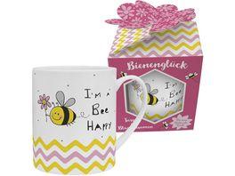 H PPYlife XL Tasse mit Blumensamen I m a Bee Happy